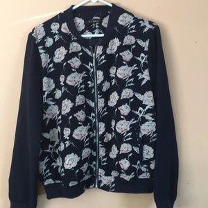 Floral bomber jacket.